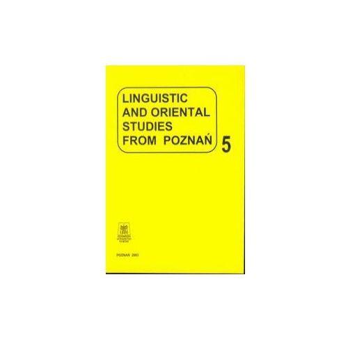 Linguistic and oriental studies from Poznań vol. 5, Wydawnictwo Naukowe UAM