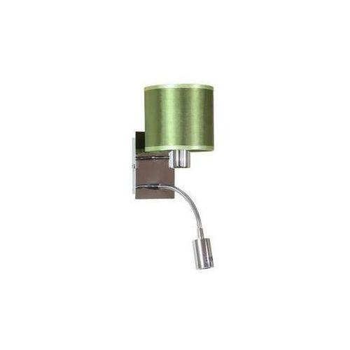 Kinkiet LAMPA ścienna SYLWANA 21-29294 Candellux abażurowa OPRAWA peszel zielony - produkt z kategorii- Lampy ścienne