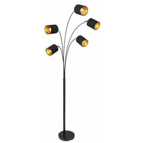 Globo kaddy 58500 lampa stojąca podłogowa 1x40w e14 czarna/złota (9007371410675)
