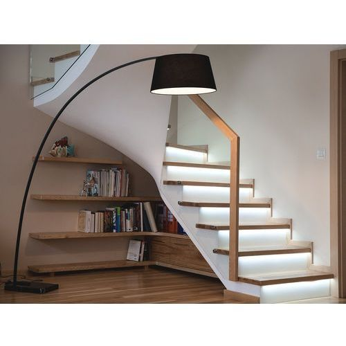 Lampa stojąca - podłogowa - kolor czarny - oświetlenie - benue marki Beliani