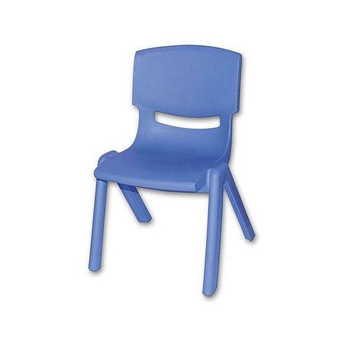 krzesełko dziecięce z tworzywa sztucznego kolor niebieski marki Bieco