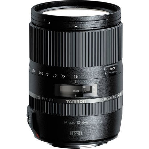 Tamron obiektyw 16-300 mm f/3.5-6.3 Di II VC PZD (Nikon) + Velbon statyw EX-macro (4960371005836)