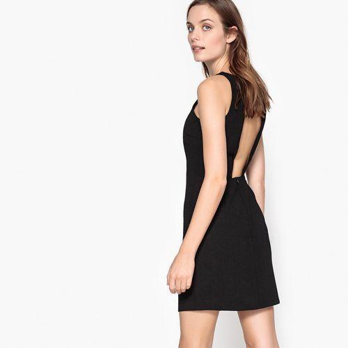 Sukienka rozkloszowana, rozszerzana, półdługa, bez rękawów, jednokolorowa (5713447066809)