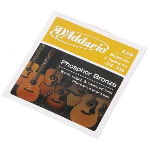 ej19 struny do gitary akustycznej phosphor bronze, bluegrass, 12-56 marki D′addario