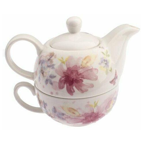 Dzbanek porcelanowy z filiżanką Flower, 400 ml (8596265097203)