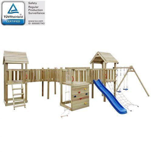 Plac zabaw dla dzieci z drabinką, zjeżdżalnią i huśtawkami
