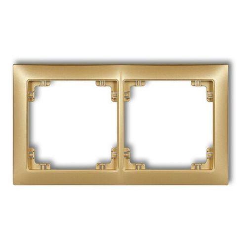 Karlik Ramka podwójna deco soft 8drso-2 złoty metalik (5901832009993)