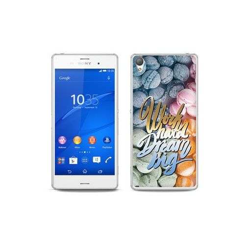 etuo Fantastic Case - Sony Xperia Z3 - etui na telefon Fantastic Case - work hard dream big, ETSN125FNTCFC059000