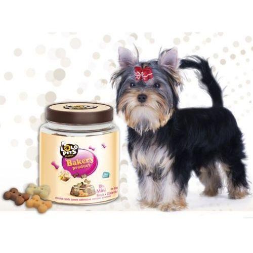 ciastka dla psa kości mini mix w słoikach 0,3kg- rób zakupy i zbieraj punkty payback - darmowa wysyłka od 99 zł marki Lolo pets