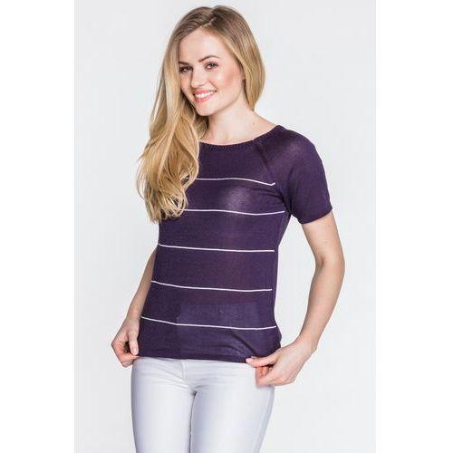 Granatowa bluzka dzianinowa - Far Far Fashion, 1 rozmiar