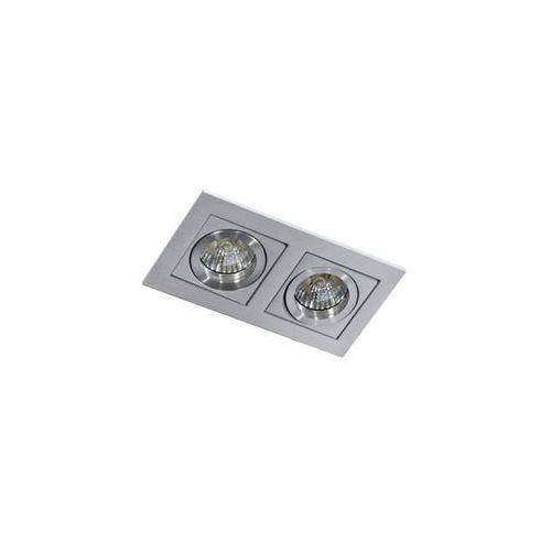 Wpust LAMPA sufitowa PACO 2 GM2201 ALU GU5.3/MR16 Azzardo podtynkowa OPRAWA prostokątna OCZKA regulowane aluminium (5901238407980)