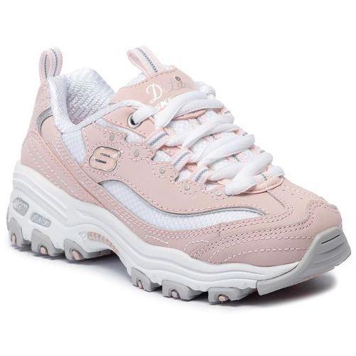 Sneakersy SKECHERS - Biggest Fan 80587L/LPKW Light Pink/White, kolor różowy