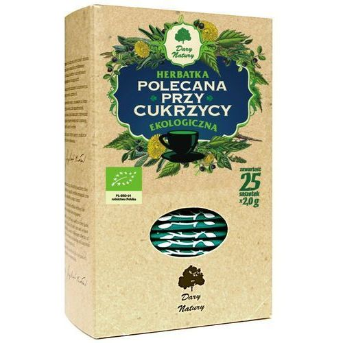 Herbata cukrzyca fix bio 25*2g marki Dary natury