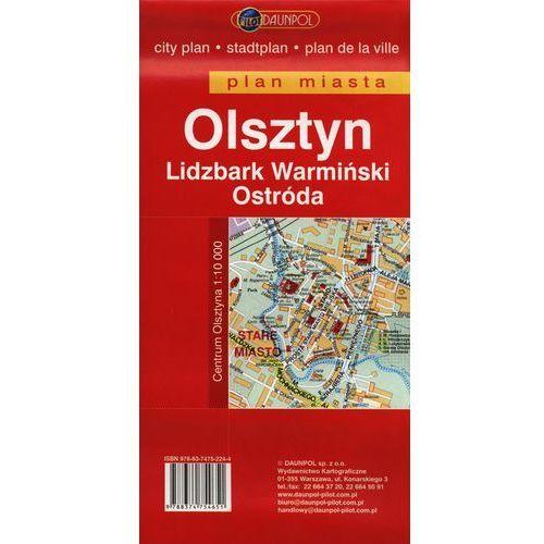 Olsztyn Lidzbark Warmiński Ostróda plan miasta 1:17 000, praca zbiorowa