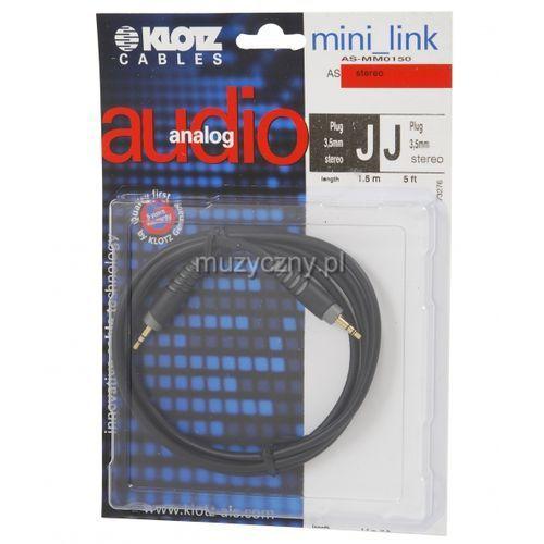 Klotz AS MM 0150 kabel mini TRS / mini TRS 1,5m