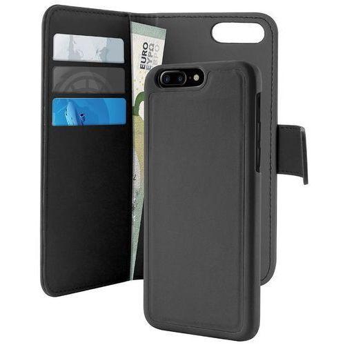 PURO Wallet Detachable - Etui 2w1 iPhone 7 Plus (czarny), kolor czarny