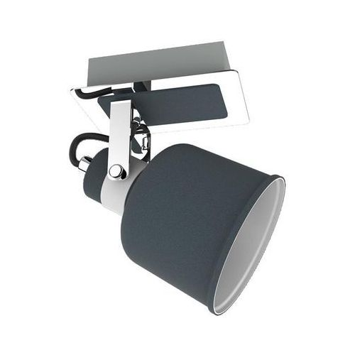 Krislamp Kinkiet lampa ścienna spot kama 1x40w e14 betonowy / szary / biały / chrom kr 342-1w (5907582568278)