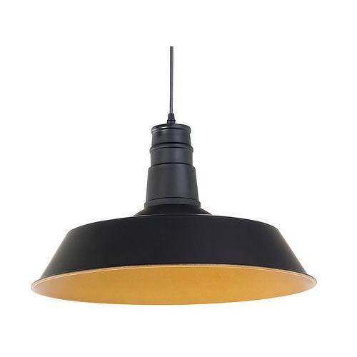 Lampa czarna - sufitowa - żyrandol - wisząca - żarówka gratis - BAYOU, kolor Czarny,