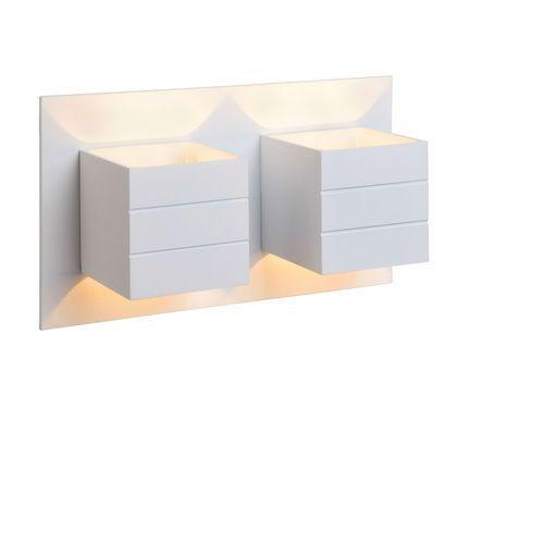 Lucide Bok - kinkiet aluminium biały 2-punktowy dł.26cm