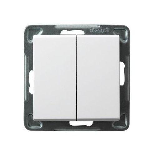 SONATA Łącznik podwójny zwierny 10AX biały IP20 ŁP-17R/m/00 Ospel (5907577446017)