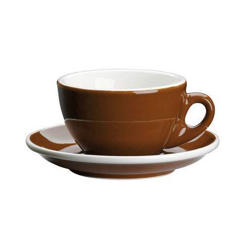 filiżanka do cappuccino, ze spodkiem, 0,1 l, brąz (4017166215052)
