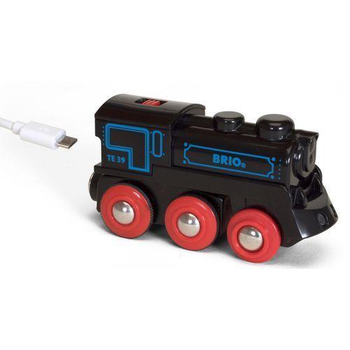 Brio czarna lokomotywa z baterią i mini-usb 33599 (7312350335996)