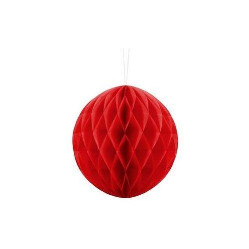 Party deco Dekoracja wisząca kula czerwona - 20 cm - 1 szt. (5901157497666)