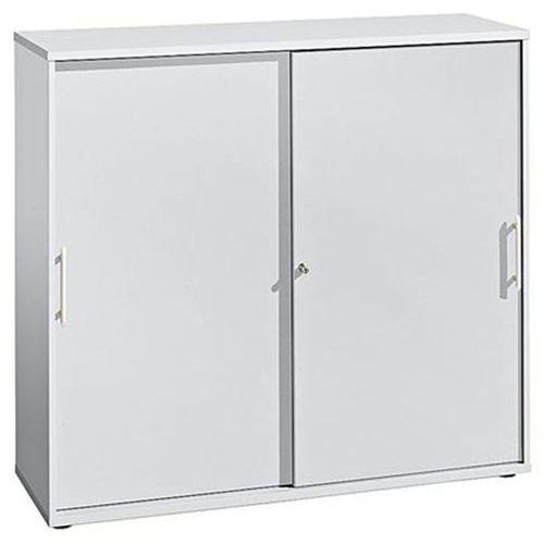 Fino - szafa z przesuwanymi drzwiami, po 2 półki, 1 ścianka działowa, wys. x sze marki Hammerbacher
