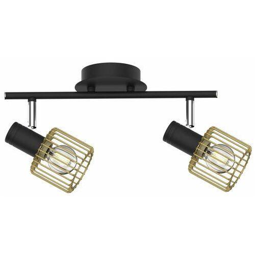 Plafon Zuma Line Martin TK171206-2 oprawa sufitowa 2x40W E14 czarny/złoty, kolor Czarny