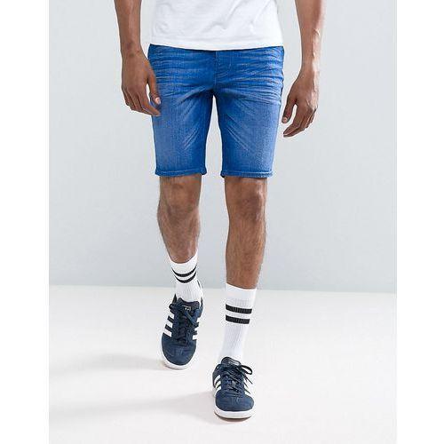 River Island Skinny Denim Shorts In Blue Wash - Blue