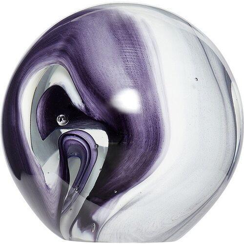 Przycisk do papieru kula 10 cm biało-fioletowy marki Hübsch