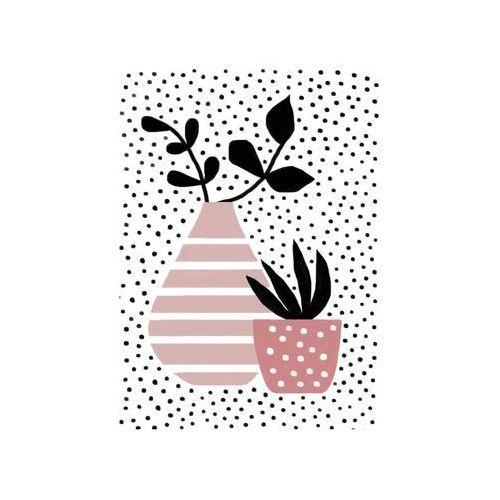 Consalnet Obraz na pilśni wazon paski i kropki 50 x 70 cm (5903011054282)