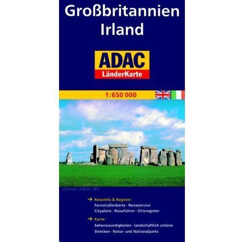 Grossbritannien. Irland. ADAC LanderKarte 1:650 000