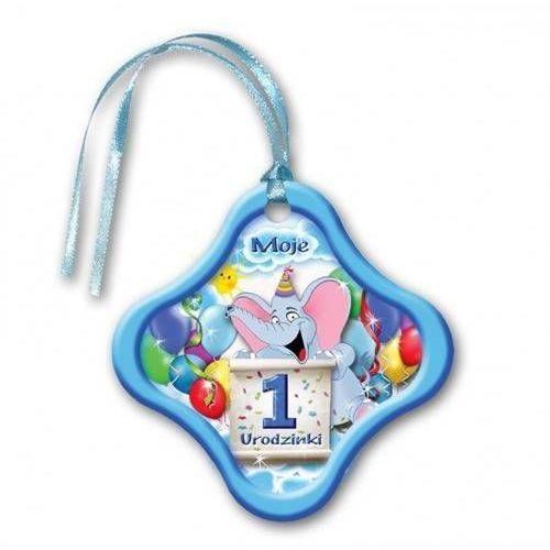 Zawieszki na butelki z wstążeczką niebieskie - 1 - jedynka - 20 szt. (5907509904547)