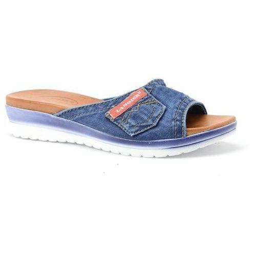 Klapki Lanqier 40C222 jeans, 1 rozmiar