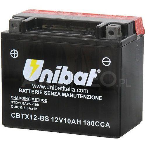 Akumulator agm cbtx12-bs 12v 10ah 180a lewy+ marki Unibat