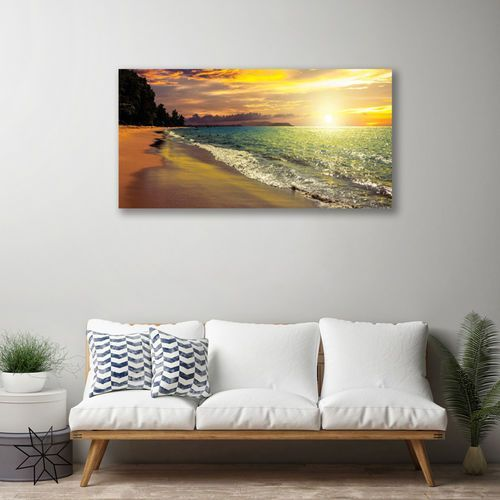 Obraz na płótnie słońce plaża morze krajobraz marki Tulup.pl