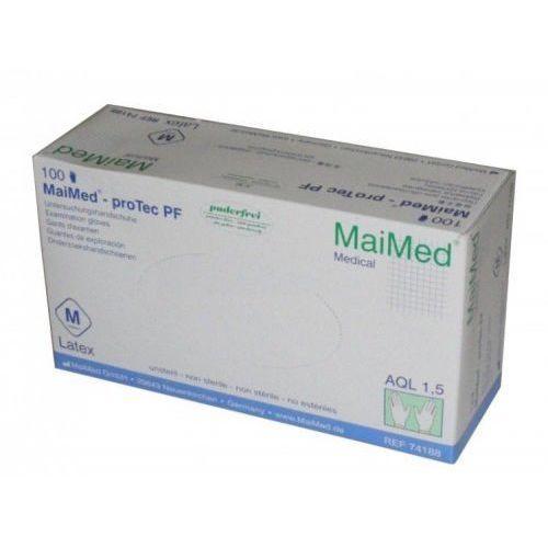 Rękawice lateksowe Maimed ProTec lekko pudrowane białe (100 szt.), 34144