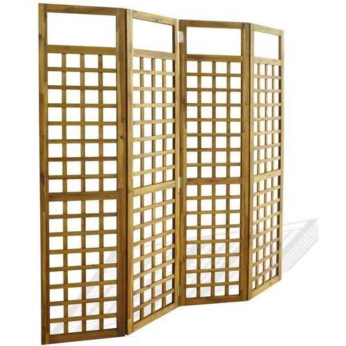 vidaXL Parawan pokojowy 4-panelowy/trejaż, drewno akacjowe, 160x170 cm (8718475582618)