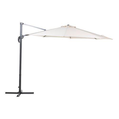 Beliani Parasol ogrodowy Ø300 cm beżowy/ciemnoszary savona