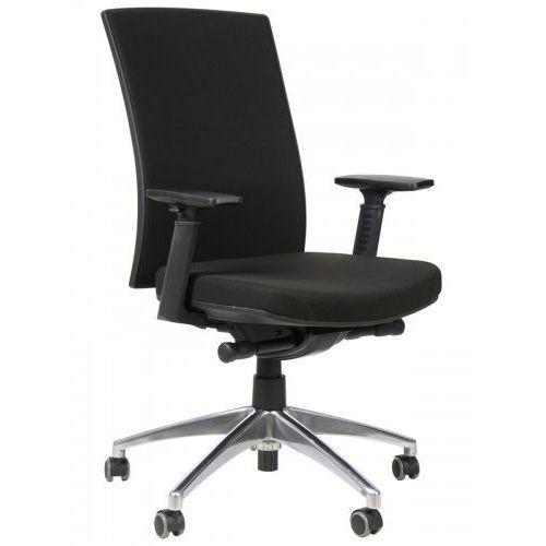 Krzesło biurowe obrotowe z wysuwem siedziska i podstawą aluminiową, KB-8922B-S/ALU/CZARNY, fotel biurowy