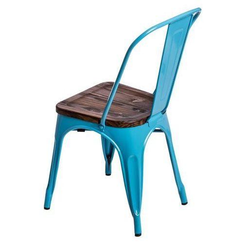 Krzesło Paris Wood sosna - niebieski, d2-5174