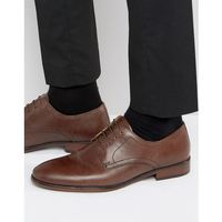 Red Tape Lace Up Smart Shoes In Brown Leather - Brown, kolor brązowy