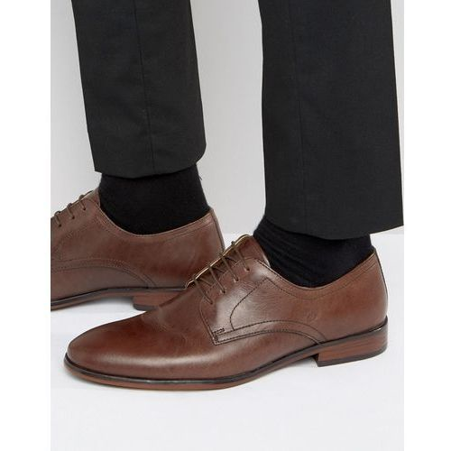 lace up smart shoes in brown leather - brown, Red tape