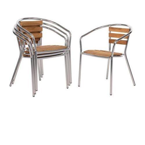 Bolero Krzesła sztaplowane | 4 szt. | 55,5x53x(h)73cm