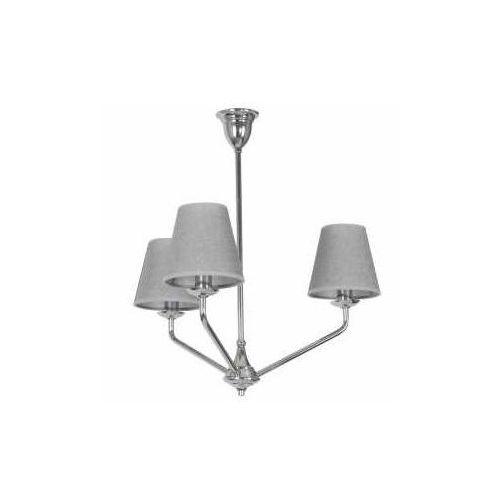 Aldex crystal z abażurem 995e/4 lampa wisząca sufitowa zwis 3x40w e14 szara (5904798648169)