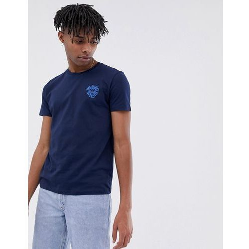 crew neck t-shirt with chest logo print in navy - navy, Esprit, S-XXL