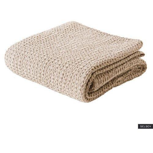 narzuta na łóżko alpinia bawełniana kremowa marki Selsey