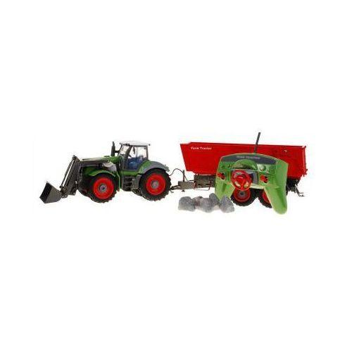 Zestaw farmera: duży zdalnie sterowany traktor z przyczepą (1:28) + pilot radiowy i akcesoria. marki Rui ch.