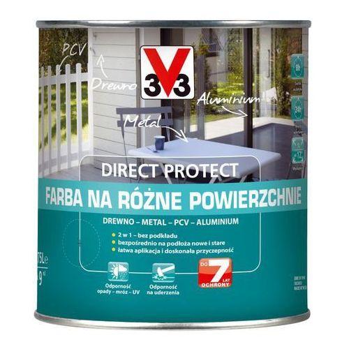 V33 Farba na różne powierzchnie direct protect metalowy antracyt 0,75 l